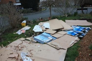 cardboard laid down
